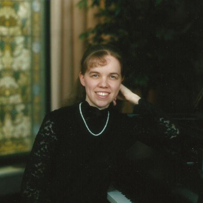 Angela at piano