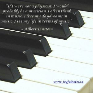 """""""If I were not a physicist, I would probably be a musician . . . """""""