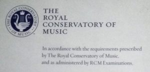Snippet of a certificate for RCM Examinations